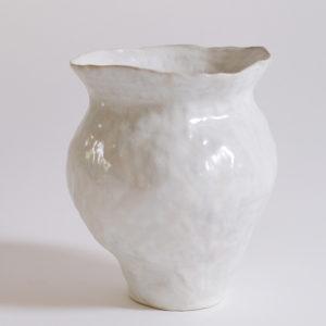 nous paris lucile boudier vase en gres blanc brillant