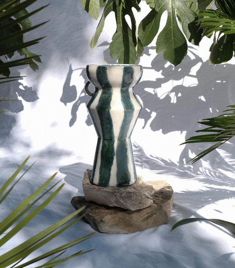 Ibkki artisan de kabylie grand vase en céramique