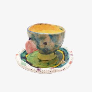 nous paris lili scratchy vaisselle fun et graphique peinte a la main