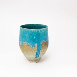 nous paris Motoko Saigo Tasse japonaise turquoise pièce unique