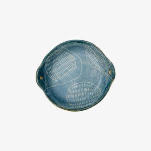 nous paris Vincent Verde Assiette creuse à oreilles bleu planète pièce unique