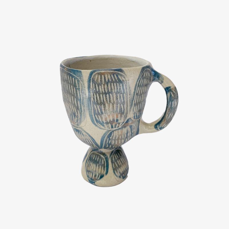 Vincent-Verde-tasse-Mazagran-gres-ronds-bleus-avec-anse-v1
