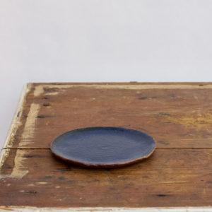 gaelle le doledec soucoupe ceramique bleu