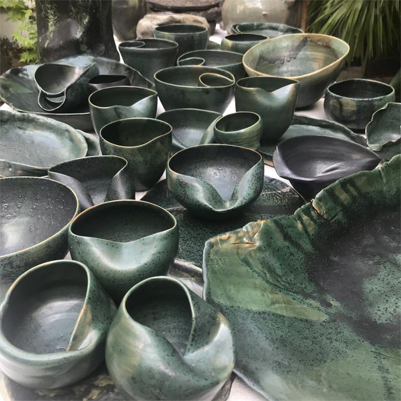 Ema pradere exposition ceramique contemporaine vaisselle chef