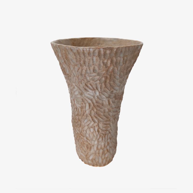 Lucile-Boudier-Vase-gravé-grès-brun
