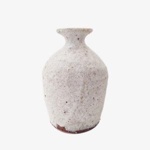 nous Paris Benoit Audureau vase bouteille col blanc mat terre du Aizenay