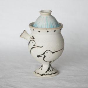 Bouteille a sake poetique ceramique japonaise