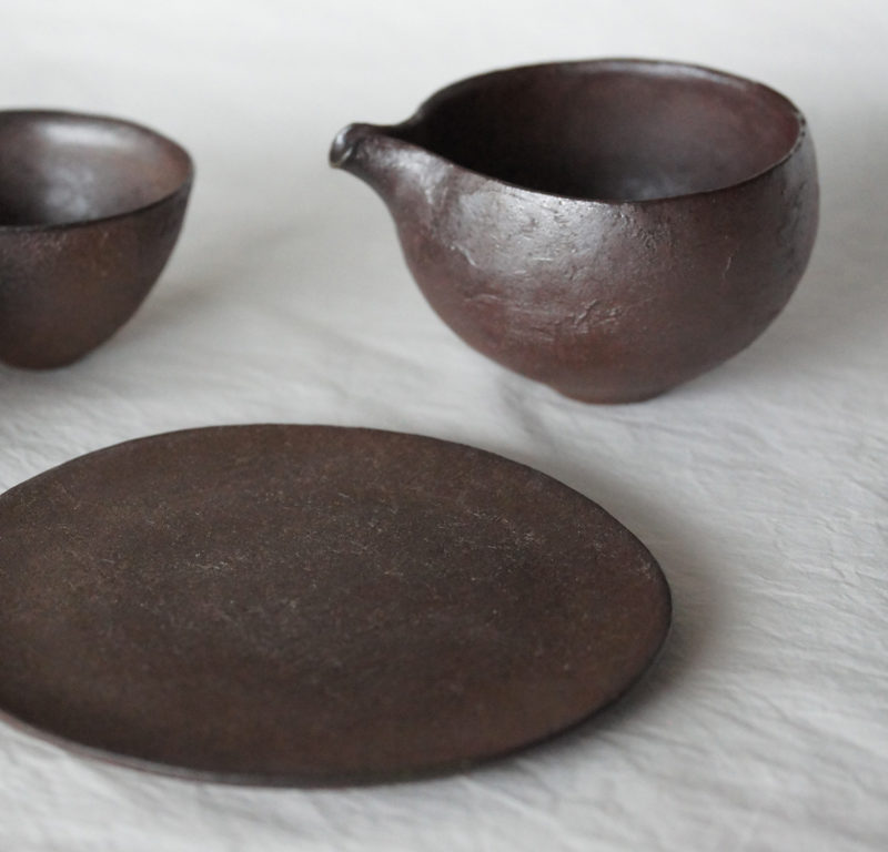 Ceramique brute japonaise cuite au bois sans email yakishime Mutsumi Ohashi