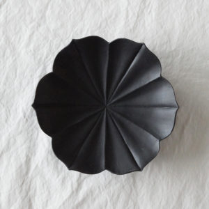 Porcelaine japonaise petite assiette japonaise en forme de fleur Usukiyaki