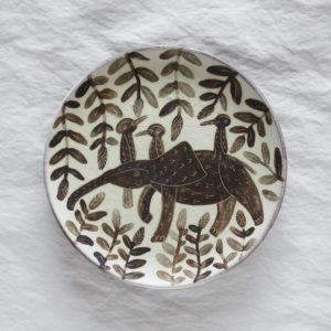 Assiette peinte a la main ceramique japonaise Utsuwa no shigoto