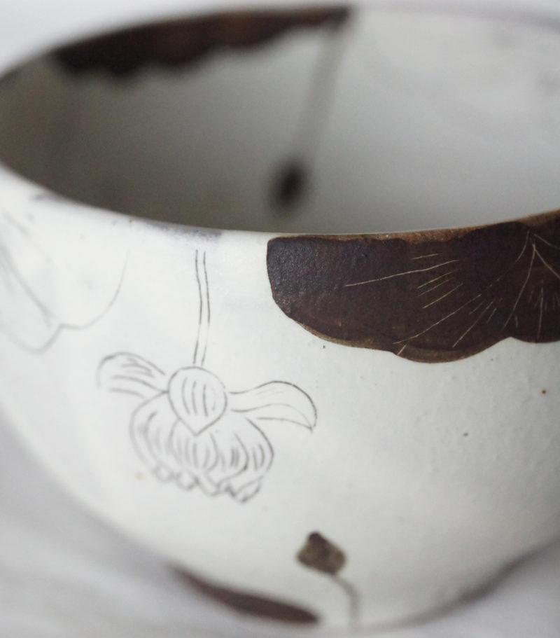 Bol décor lotus ceramique japonaise