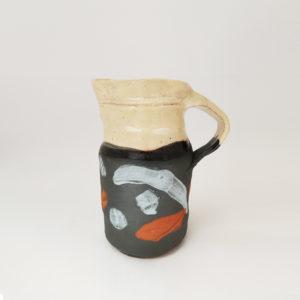 Pichet ceramique terre vernissee couleur heloise bariol