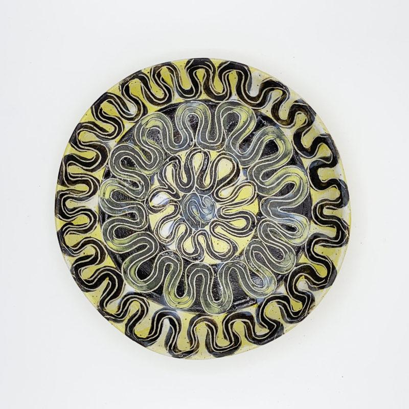 Vincent-verde-Grande-assiette-creuse-jaune-noire-v1
