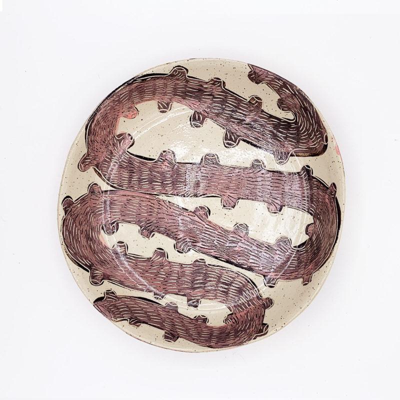 Vincent-verde-Grande-assiette-creuse-serpent-rose-v1