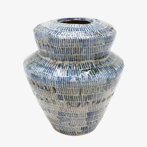 Grand vase en grès bleu vert Lea Brodiez