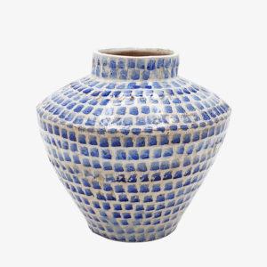 Grand vase en grès bleu Lea Brodiez