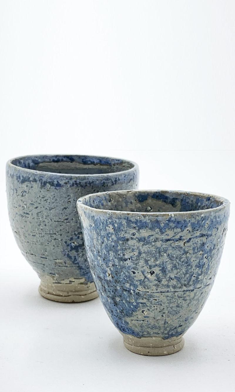 Mami Kanno tasse sake japonais en gres ceramique japonaise
