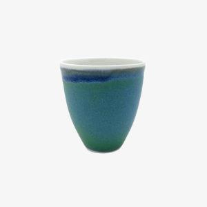 Marie Laurent tasse porcelaine vert bleu