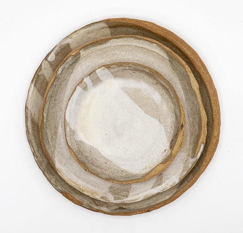 Elea Lelimouzin assiette en grès brute