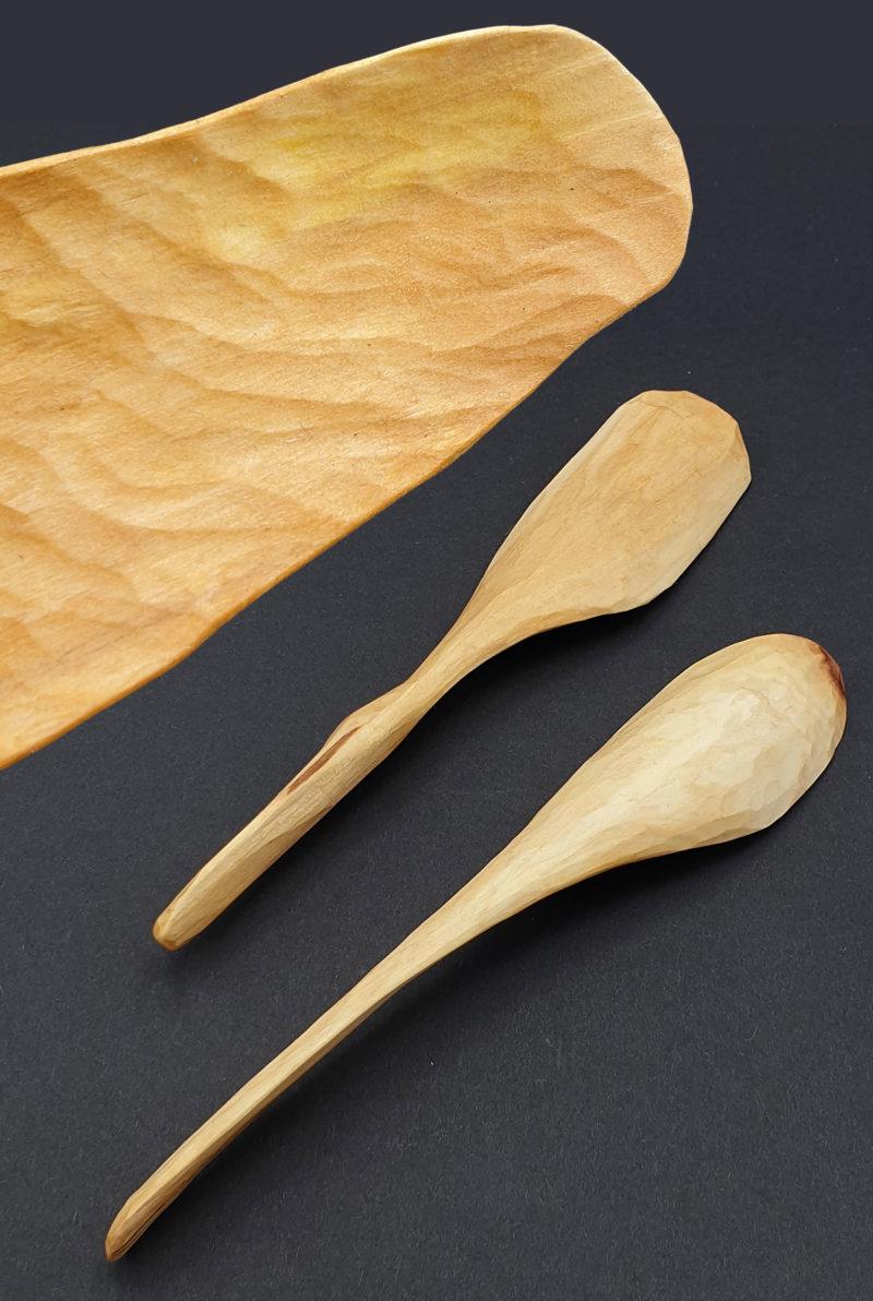 nous paris flore layole petite cuillere bois sculptee