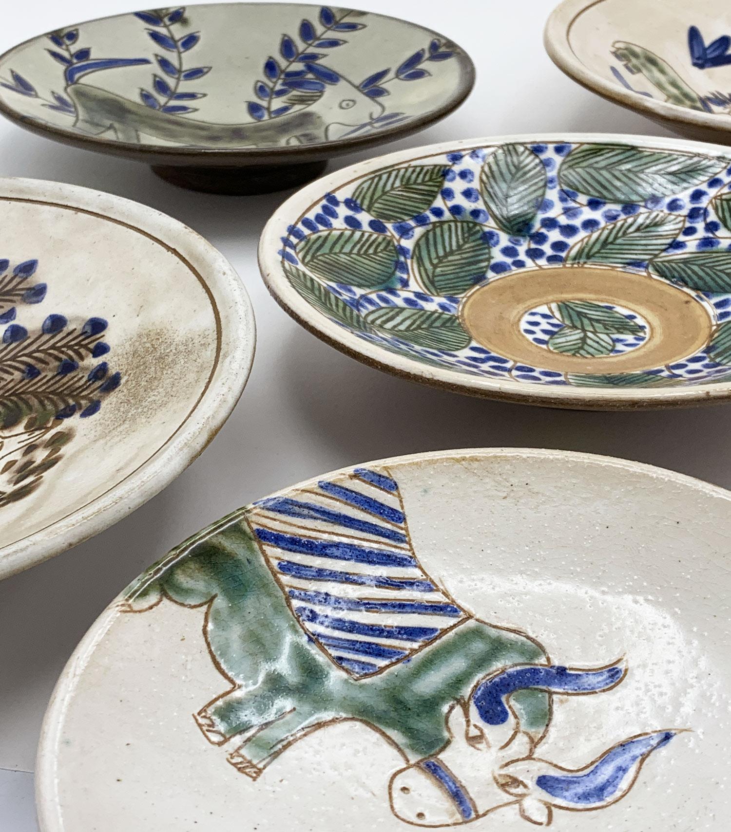 Poteries de l'ecole du Fayoum petites assiettes